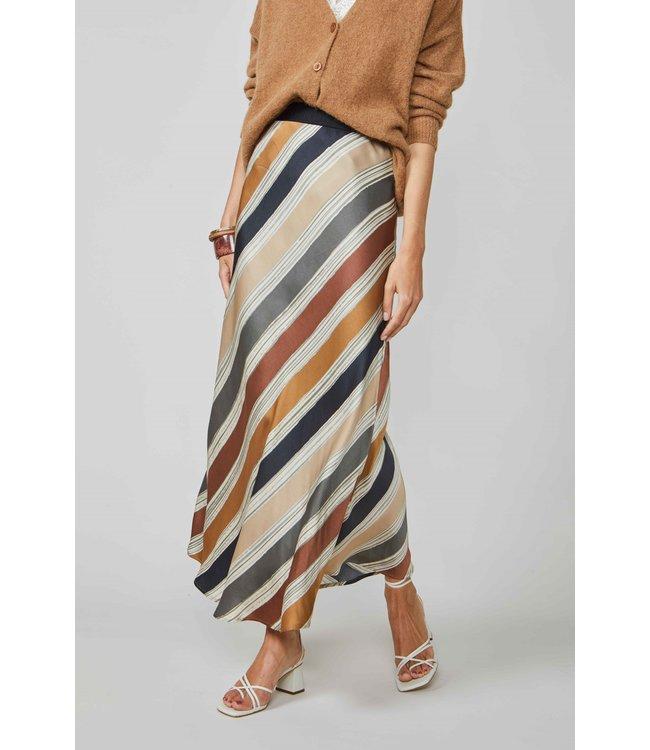 Summum Woman 6s1196-11359 Skirt printed stripe Multicolour