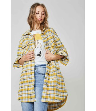Summum Woman 1s1015-11392 Coat big check Bright ochre