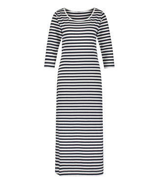 PENN&INK S21F891  Dress stripe navy/ecru