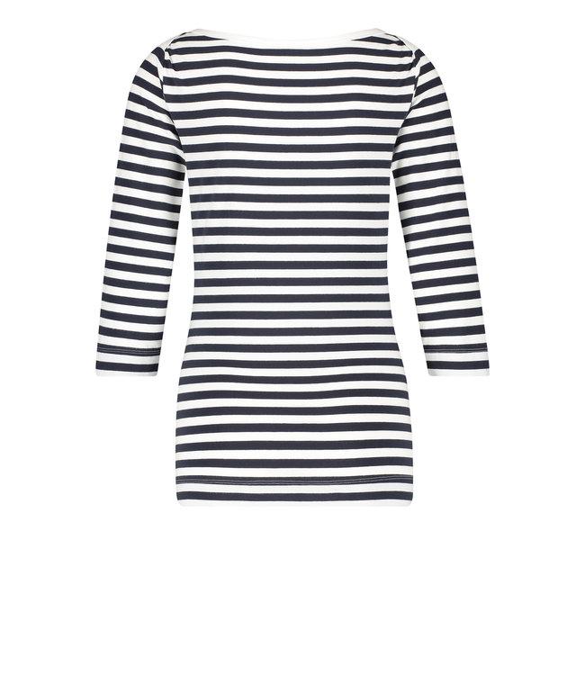 PENN&INK S21F894 T-shirt stripe navy/ecru