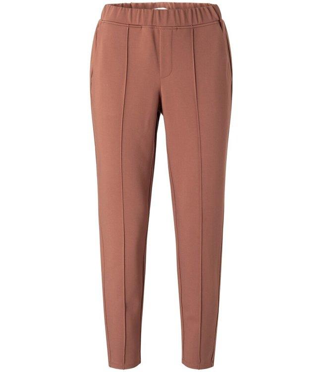 YAYA 1209119-111-russet  Jersey tailored trousers