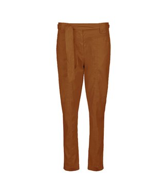 Summum Woman 4s2117-11352 Trousers paperbag cotto linen stretch Walnut