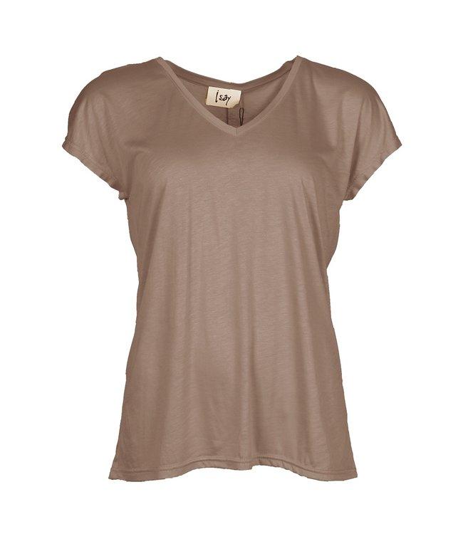 I Say 55483-LuxuryCamel  Nugga v-neck t-shirt