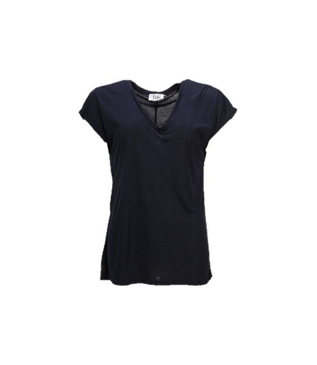 I Say 55483-Navy  Nugga v-neck t-shirt