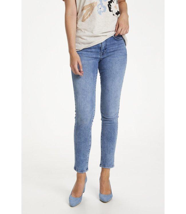 Saint Tropez 30510050 MollySZ MW Slim Jeans Light Blue Denim