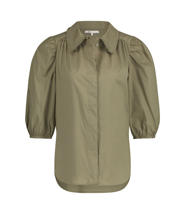 NUKUS SS2141655 MariaSS Blouse Army