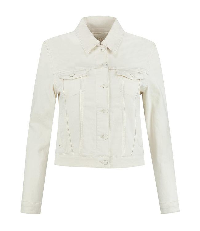 Para Mi SS211.005160 Mae Jacket Color Denim Off White