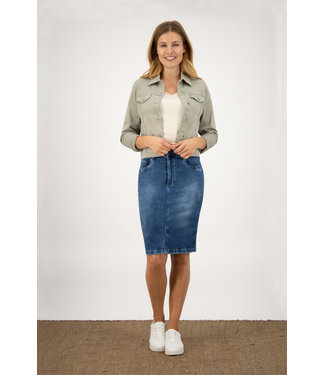 Para Mi SS211.022161 Jane Skirt  P-form Denim Cloudy Blue