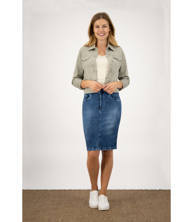 Para Mi SS211.022161 Jane Skirt  P-form Denim Cloudy Blue