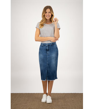 Para Mi SS211.022162 July Skirt  P-form Denim Cloudy Blue