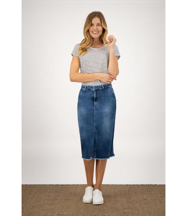 Para Mi SS211.022162 July Skirt  P-form Denim Cloudy Blue