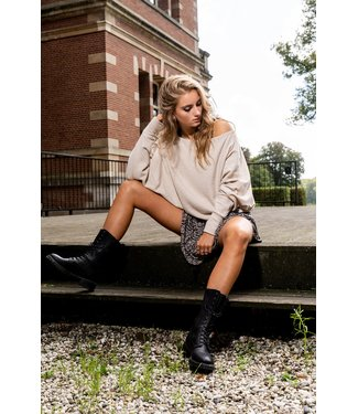 Juul&Belle pulljuul-sand shirt 80% vis 15%poly 5% elast