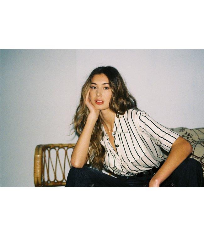 Les Favorites 5553146  Hope stripe blouse white