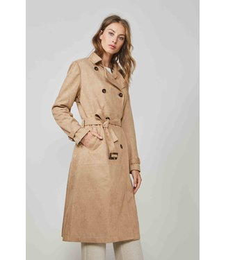 Summum Woman 1s1013-11389 Trenchcoat bonded suedine Walnut