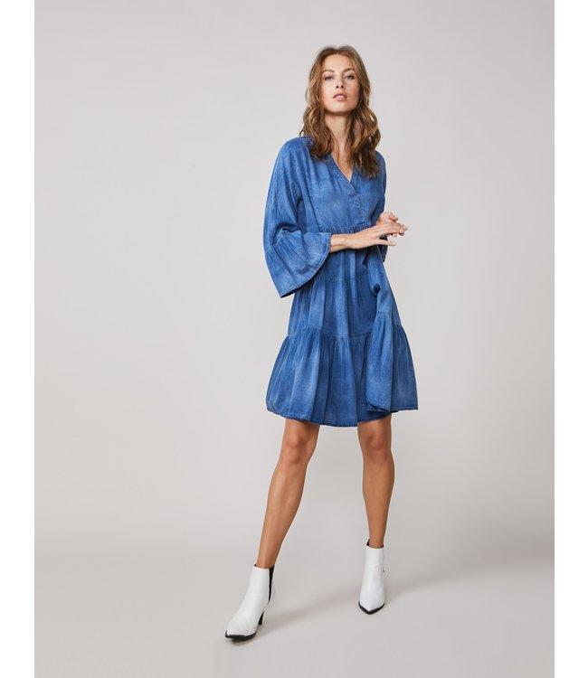 Summum Woman 5s1232-11413 Dress cotton indigo sateen Indigo