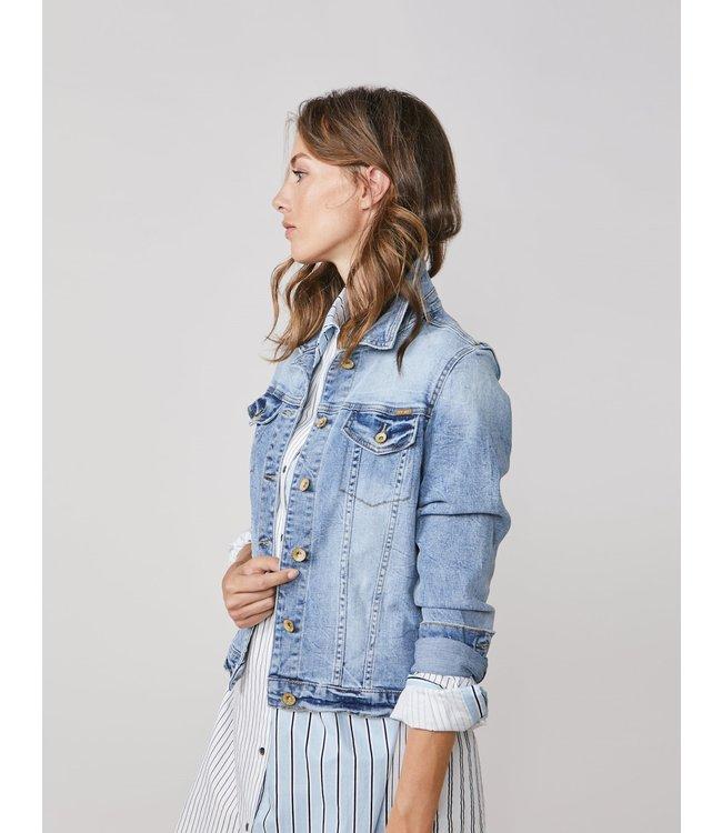 Summum Woman 1s1016-5082 Basic denim jacket twill strech Denim