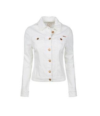 Summum Woman 1s1025-5084 Basic denim jacket midweight White denim