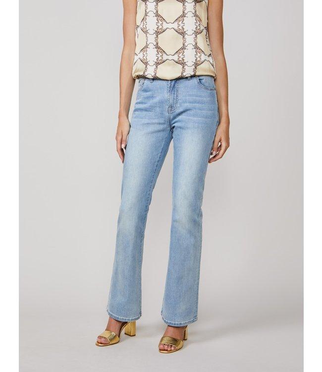 Summum Woman 4s2077-5086 Flared jeans rain Bleached denim