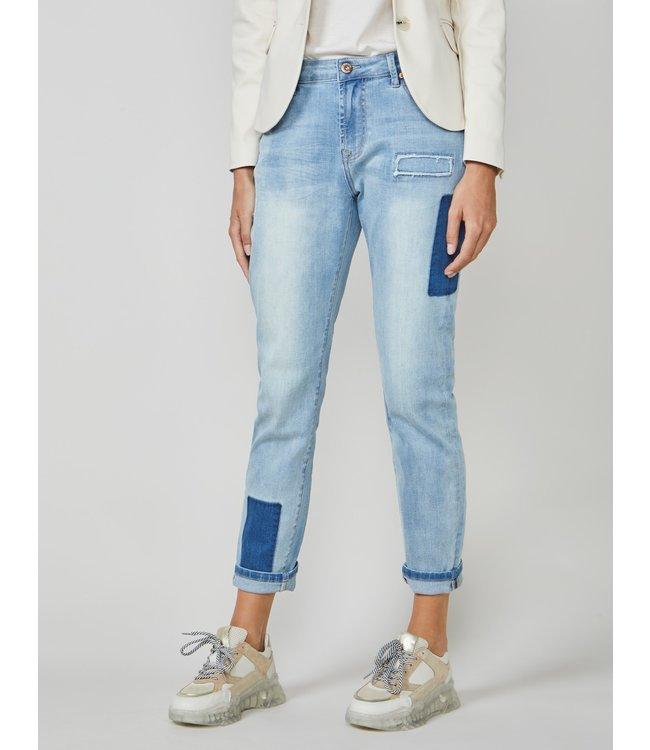 Summum Woman 4s2078-5086 Slim fit jeans rain Bleached denim