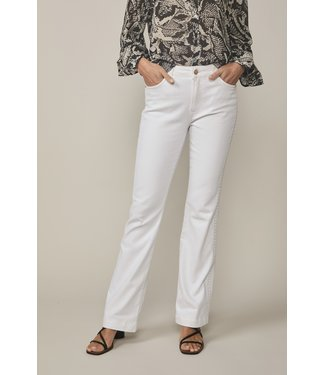 Summum Woman 4s2100-5084 White flared jeans midweight White denim