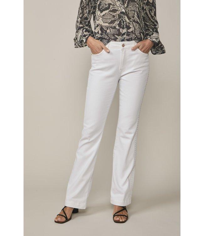 Summum Woman 4s2100-5084 White flared jeans midweight White denim