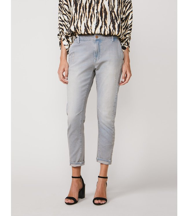 Summum Woman 4s2109-5089 Loose tapered jeans soft cotton Grey denim