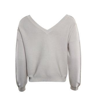 Poools 113185 Sweater 2 ways 2 w Oatmeal