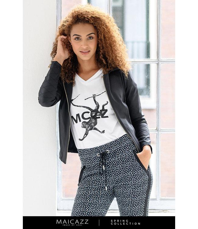 MAICAZZ SP21.75.005-WhiteMonkeyBlack  SAMANTHA t-shirt