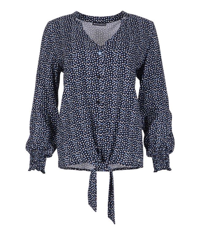 MAICAZZ SP21.20.002-DotsBlue  NAJIMA blouse