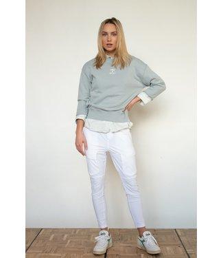 PENN&INK S21T563-pigeonwhite  Sweater print