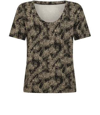 Tramontana D10-98-402 T-Shirt Reversible Snake Dotted Print Blacks