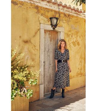 Tramontana D10-98-501 Dress Midi Snake Dotted Print Blacks