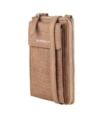 Burkely 1000077.29.25  Croco phone bag taupe
