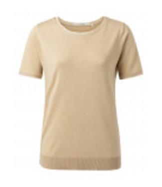 YAYA 1000412-112-oat Mesh binding sweater