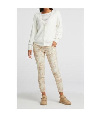YAYA 1201123-112-oatdessin  Stretch trousers with print