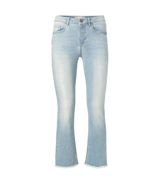 YAYA 1201175-112-BlueDenim  Cropped kick flared jeans
