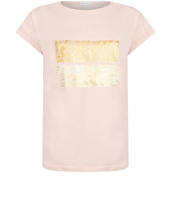 Tramontana Q26-98-403 T-Shirt Foil Artwork Peach
