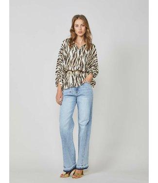 Summum Woman 2s2528-11370 Blouse zebra viscose Multicolour