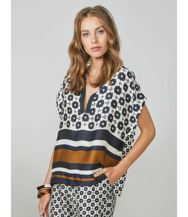 Summum Woman 2s2572-11372 Top striped border Multicolour
