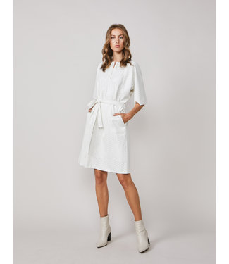 Summum Woman 5s1251-11410  Dress lasercut faux leather