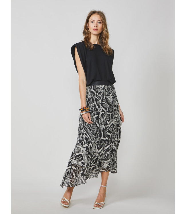 Summum Woman 6s1194-11371  Skirt ebomy and ivory