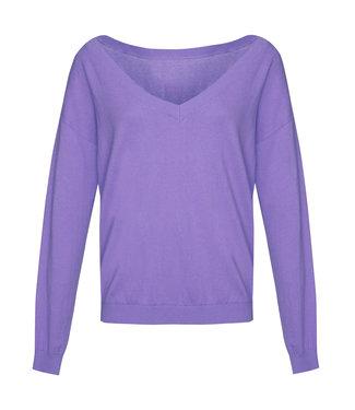 Les Favorites 8553110  Day v-neck sweat purple