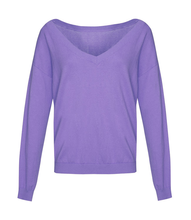 Les Favorites 8553110  Day v-neck sweat purple