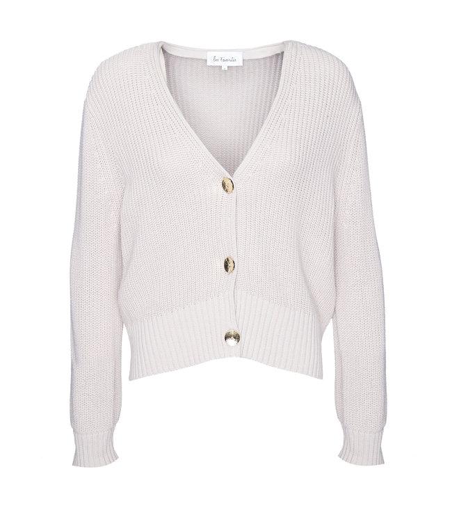 Les Favorites 8553135  Sienna cotton cardigan beige