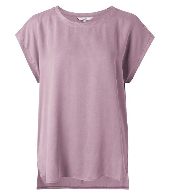 YAYA 1901116-113  Cupro blend fabric mix top  lilac