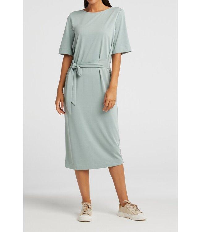 YAYA 1809322-113  Jersey dress with belt concrete blue