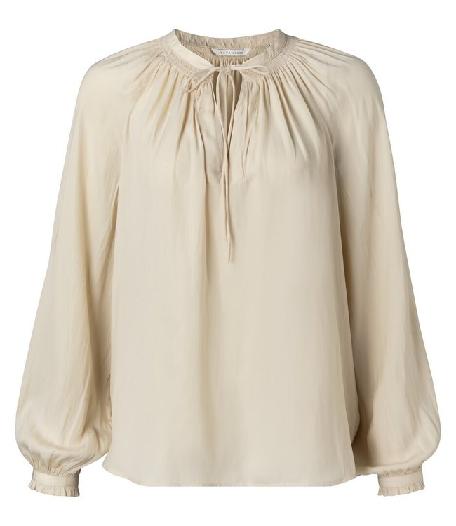 YAYA 1901412-113  Drappy tunic top egg shell