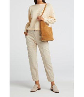 YAYA 1201134-113  High waist worker trousers sand