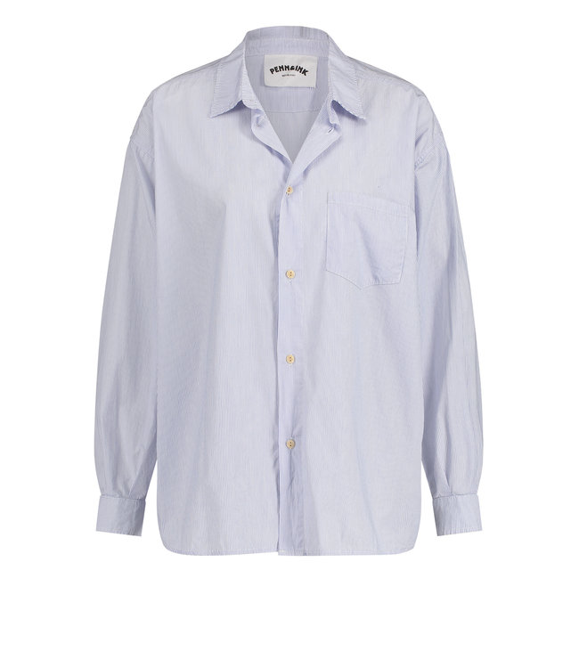 PENN&INK S21W310  stripe blouse