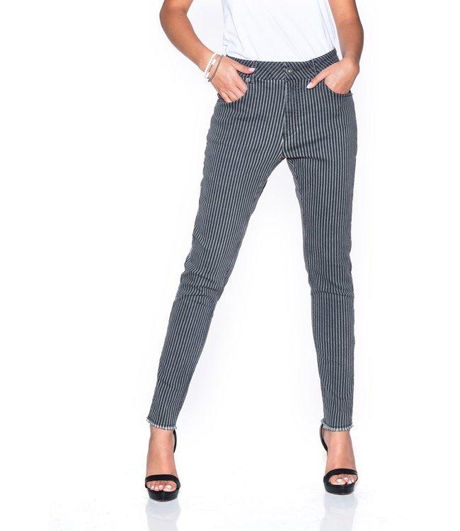 Bianco jeans 120890  Cornelian broek gray stripe